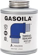 Gasoila Soft-Set Pipe Thread Sealant with PTFE Paste, Non Toxic, -100 to 600 Degree F, 1 Pint Brush