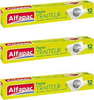 ALFAPAC - Papier traiteur 12M - Lot de 3
