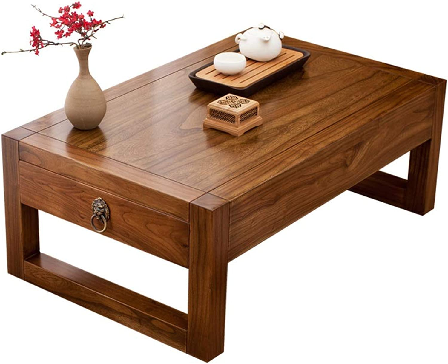 End Tables Table Tatami Coffee Table Bed Table Home Solid Wood Bay Window Table Low Table Balcony Small Coffee Table with Drawers Low Table Best Gift End Tables (color   B, Size   50  40  30CM)