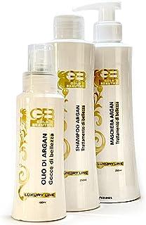 GoldBeauthy Maschera Capelli Ristrutturante Professionale Made in Italy Kit Ricostruzione Capelli Olio e Shampoo Lisciante...