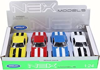 Welly 1968 Chevy Camaro Z/28 (Four Color Bundle) - 1/24 Scale Diecast Model Cars