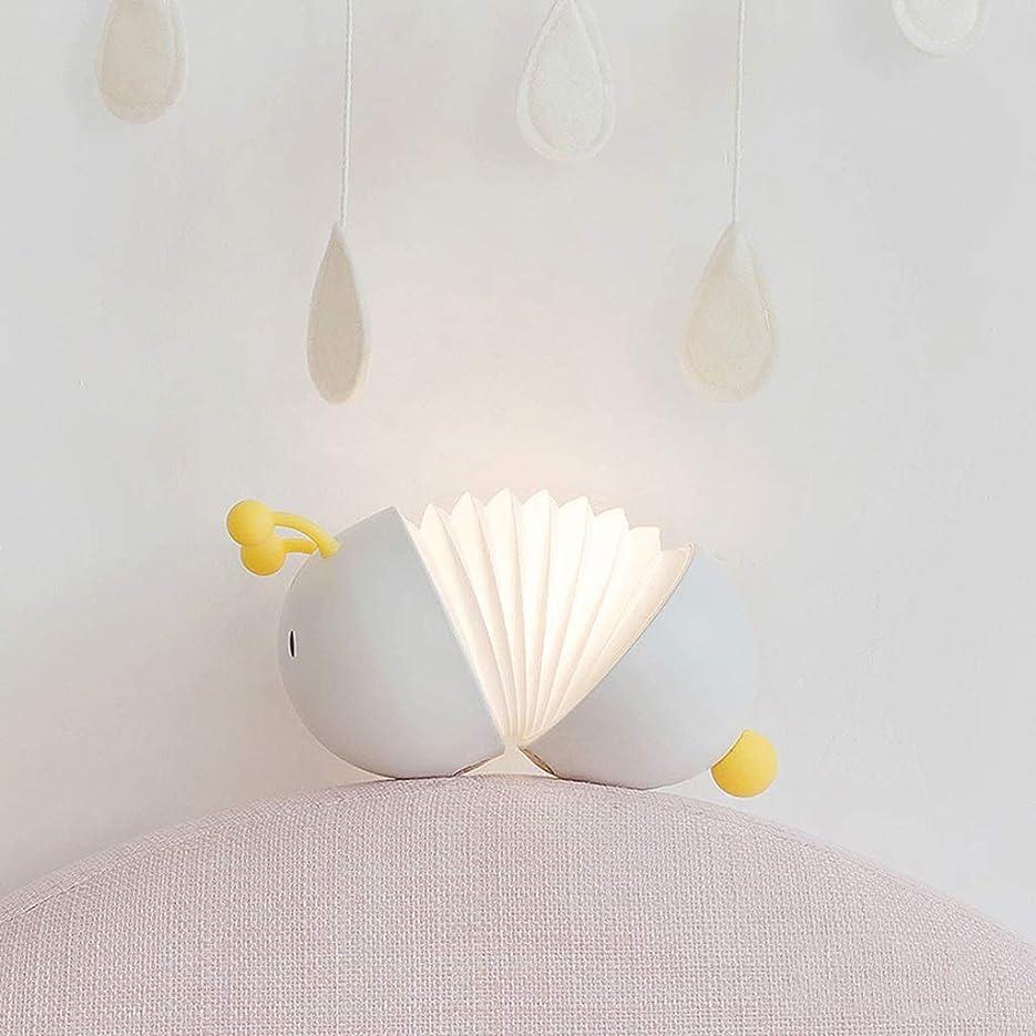 狂気部屋を掃除するゆりLEDナイトライト LEDナイトライト子供ベッドサイドランプ充電寝室の装飾と望遠鏡のバグ LEDナイトライト (Color : White)