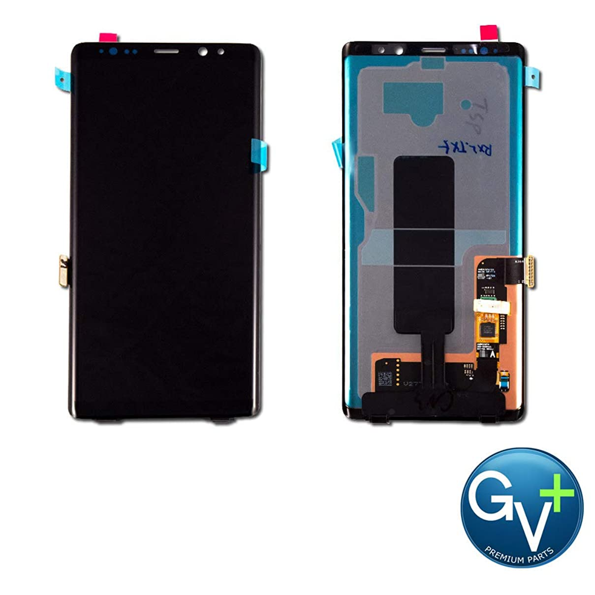 Group Vertical Replacement Screen AMOLED Digitizer Assembly Compatible with Samsung Galaxy Note 8 (SM-N950) (GV+ Performance)