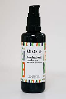 KAIBAE Organic Baobab Oil | Hair & Skin Moisturizer | Cold-Pressed & Wildcrafted | Clean Label (50mL)…