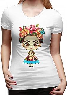 MONIKAL Unisex Infant Short Sleeve T-Shirt Frida-Kahlo Toddler Kids Organic Cotton Graphic Tee Tops