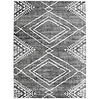 ReaLife Rugs Machine Washable Rug - Stain Resistant, Non-Shed - Eco-Friendly, Non-Slip, Family & Pet Friendly - Made from Premium Recycled Fibers - Moroccan Diamond - Gray, 5' x 7' (B086372LRQ) | Amazon price tracker / tracking, Amazon price history charts, Amazon price watches, Amazon price drop alerts