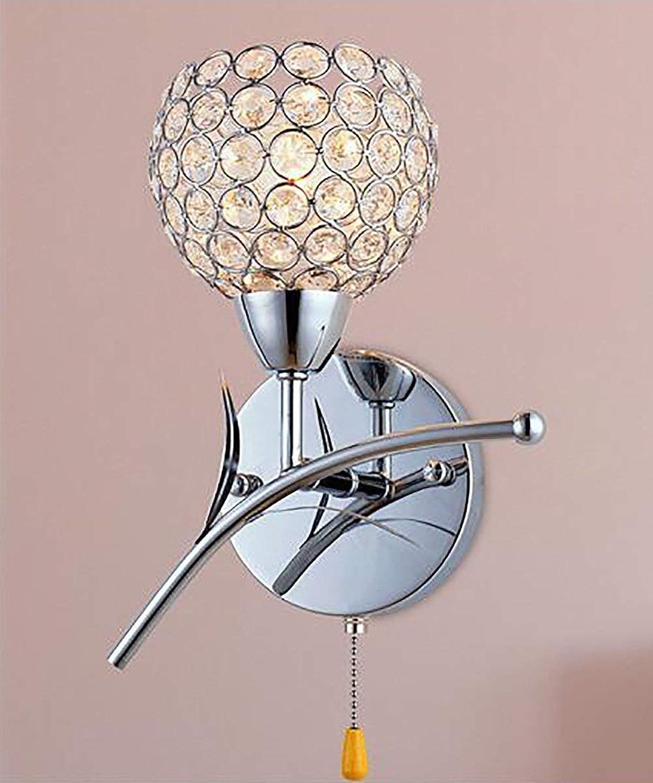 Wandleuchte Licht kreative Single Head Crystal Wand Lampe am Bett Schlafzimmer Treppen Wohnzimmer Wand Lampen (Farbe  A, Gre  12  20 cm)