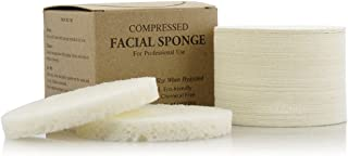 Facial Sponges - APPEARUS Compressed Natural Cellulose Face Sponge | Made in USA | Professional Spa Sponges for Face Cleansing, Massage, Pore Exfoliating, Mask, Makeup Removal (50 Count/White)