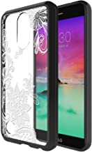 LG K20 V Case, LG K20 Plus Case, LG K10 2017 Case, Skmy Shockproof Hard PC+ TPU Bumper Case Scratch-Resistant Cover for LG K20V/LG Harmony/LG Grace/LG LV5 (Lace Flower)