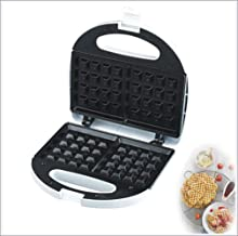Waffle Maker, Deep Fill Sandwich Toaster, Panini Maker, Toastie Maker with Nonstick Plates Double-sided Heating white 1000W