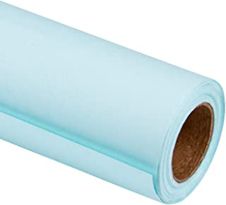 RUSPEPA Blue Kraft Wrapping Paper - 81.5 Sq Ft Heavyweight Paper for Wedding,Birthday, Shower, Congrats, and Holiday Gifts - 30Inch X 32.8Feet Per Roll