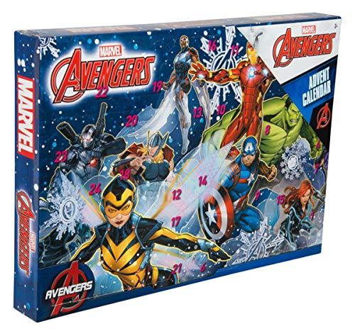 Sambro AVE-6722 Adventskalender Marvel Avengers mit Schreibwaren, kleinen Spielzeugen und Stickern, für Kinder ab 3 Jahre, bunt