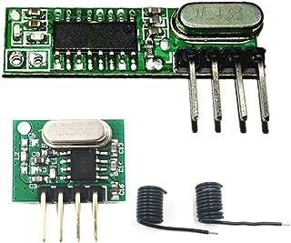 QIACHIP Superheterodyne Receiver and Transmitter kit 433Mhz RF Wireless Module with Antenna for Arduino UNO DIY Kits