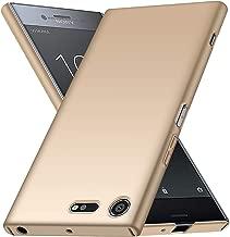 Sony Xperia XZ Premium Case, Almiao [Ultra-Thin] Minimalist Slim Protective Phone Case Back Cover for Sony Xperia XZ Premium 2017 (Smooth Gold)