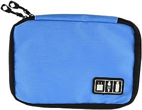 Bolsa de Almacenamiento Organizador portátil de Viaje Bolsa de Almacenamiento, for Accesorios Digitales, como una Unidad Flash U Disco/USB Cable de Datos/Banco/Potencia (Color : Blue)