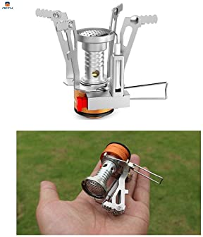 AOTU Portable Camping Stoves Backpacking Stove with Piezo Ignition ,Stable Support Wind-Resistance Camp Stove for Out...