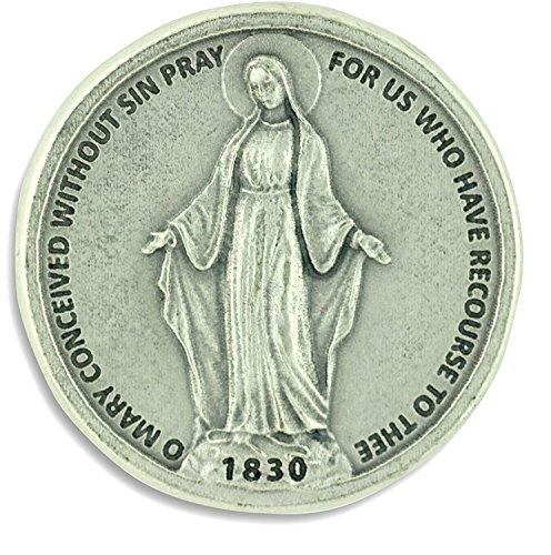 Token de bolsillo medalla Milagrosa. Nuestra Señora inmaculada medalla. Perfecto para tu bolsillo, cartera o bolso.