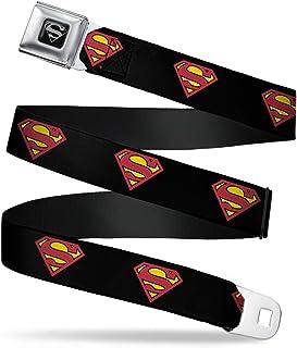 Superman Shield Black Seatbelt Belt