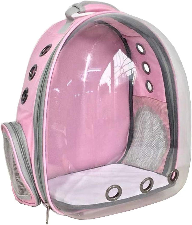 Meng pet Pet Bubble Backpack  Outdoor Portable Pet Backpack, Pet Capsule, Pet Traveler (color   Pink)