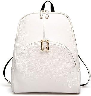 YbauShop PU Skin Retro Travel Backpack,Ms Shoulder Bag ,College Wind One Shoulder Package Outdoor,Business,Travel,Hiking (Color : White)