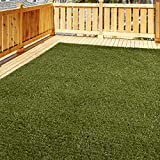 iCustomRug Thick Turf Rugs and Runners 8' X 10' Pet Friendly Artificial Grass Shag | Available in 48 Different Sizes with Bound Pre-Finished Edges