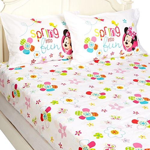Disney Minnie Mouse Bowtique Garden Party 54' x 75' Full Sheet Set