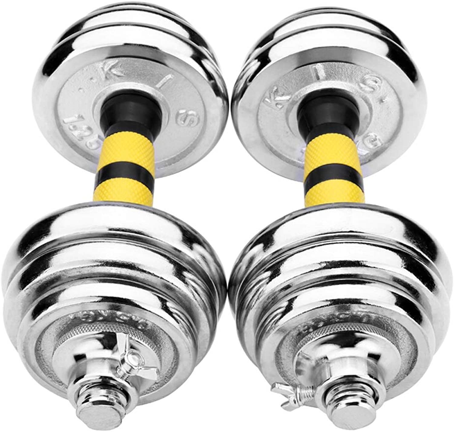 Electroplating Dumbbell Men's Barbell Set Combination Home Exercise Fitness Equipment A Pair of +30 cm Connecting Rod