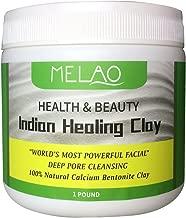 Vaiolab Indian Healing Bentonite Detox Clay, 100% Natural Powder, Face, Body & Hair Mask, Deep Pore Cleansing, Removes Toxins, Melao by Vaiolab (1 Pack)