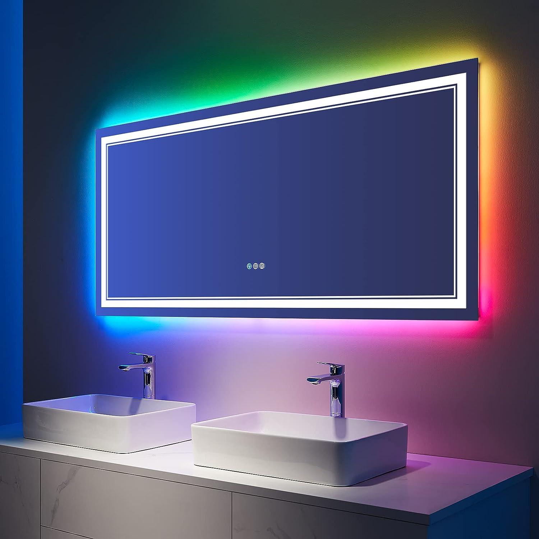 ISTRIPMF Quantity limited 72x32 Inch Bathroom LED Vanity Changin Branded goods Mirror RGB Color