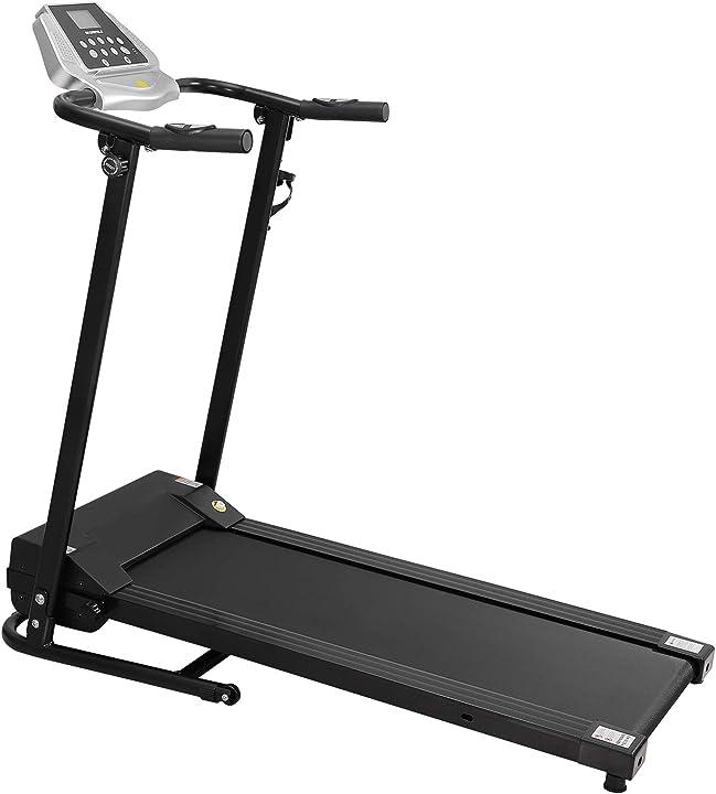 Tapis roulant elettrico motorizzato macchina in funzione con display lcd monitor di frequenza cardiaca 460019MBYH