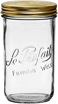 Le Parfait Familia Wiss tarros/ /Boca Ancha tarro de cristal franc/és