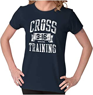 Cross Training Christian Religious Lord God Ladies T Shirt