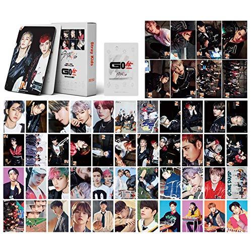gerFogoo Kpop Stray Kids Polaroid Lomo Karten, Milchglas, HD-Fotokarte, 54 Stück