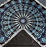Large Picnic Blanket with Mandala Design. This Outdoor Blanket is Waterproof, Sand Proof & Perfect for The Beach, Grass, Camping. The Picnic Rug is Made of Soft Durable Machine Washable Minky Plush.