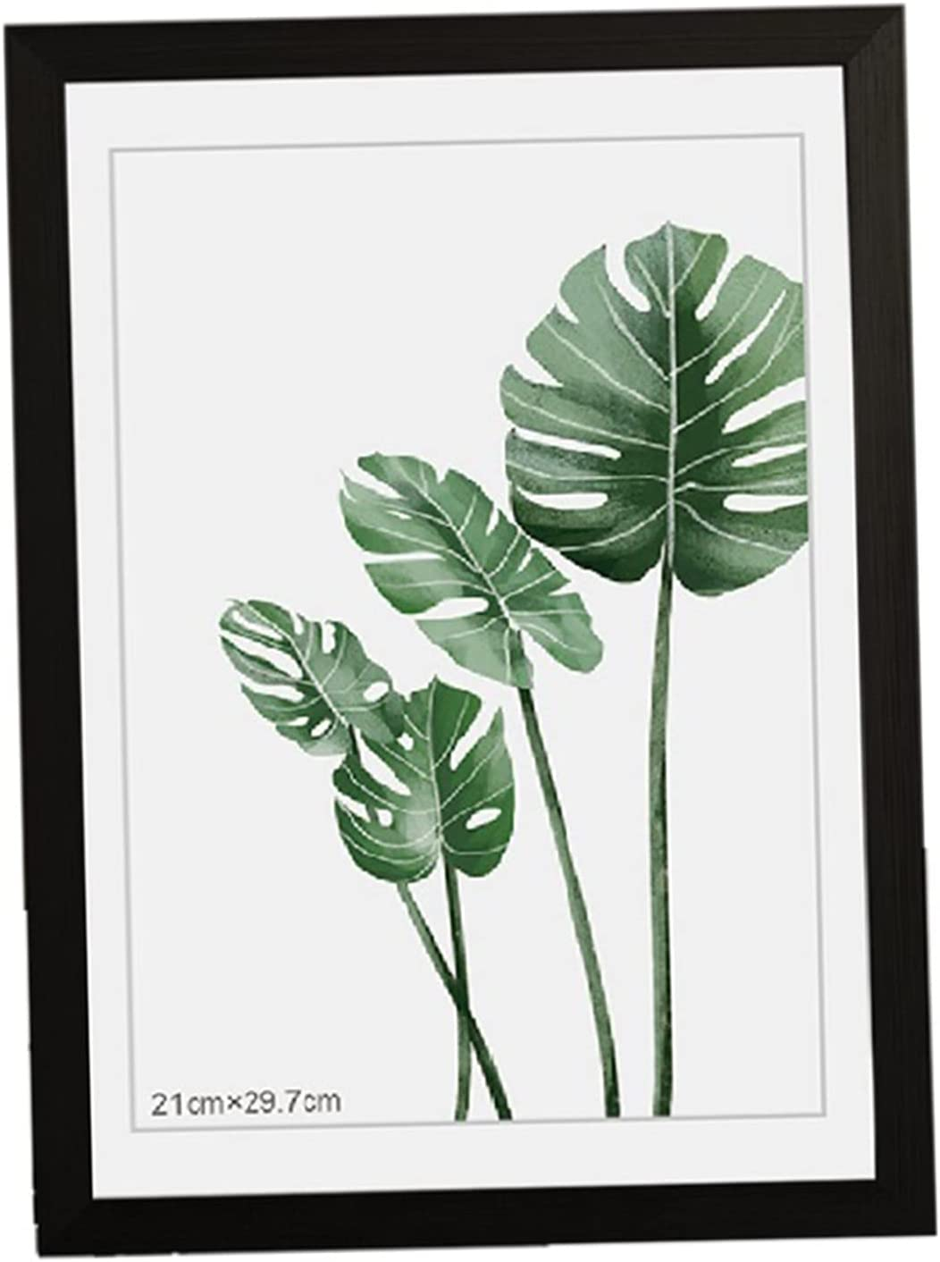 Photo 2021 spring and summer new Frame Wooden Picture Black Import A4 White Coff