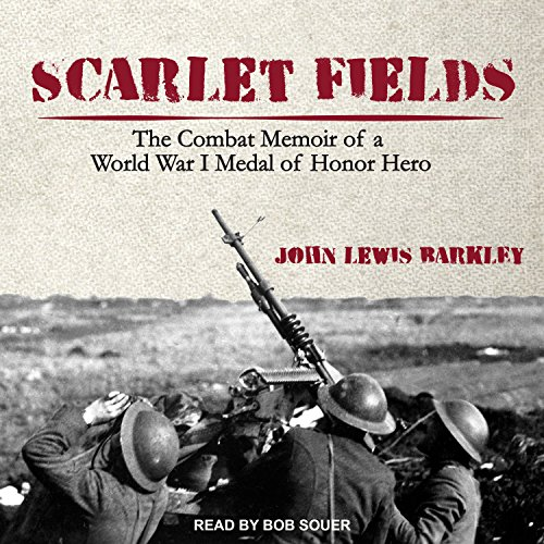 Scarlet Fields audiobook cover art