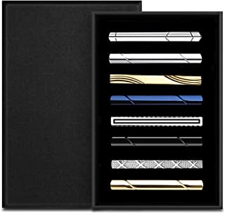 Jpyoung ネクタイピン メンズ ファッション タイピン スーツ ビジネス 日常仕事 結婚式 スーツ 真鍮製 パーティー スーツ タイピン 父の日 誕生日 記念日 プレゼント 高級 ギフトボックス付 (8本 セット)