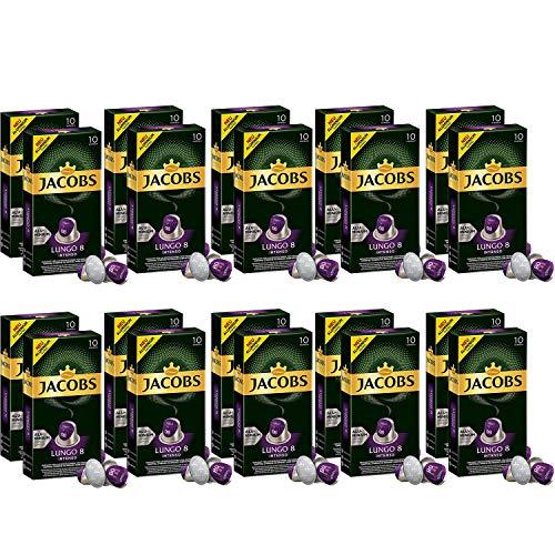 Jacobs Lungo Intenso 8 - Nespresso® * -kompatibler Aluminiumkaffee Hülsen - 20 Packungen (200 Kapseln)