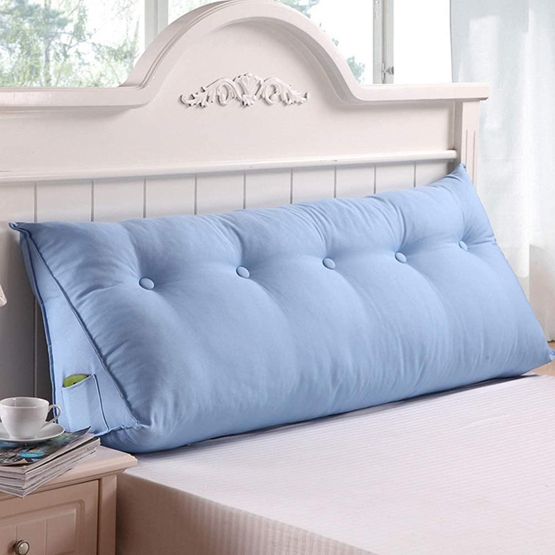 Triangle coussin lit double soft sac lit grand oreiller lit dossier amovible (Couleur   X, taille   180  50  20CM)