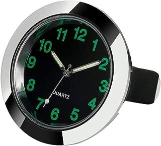 REACHS Car Dashboard Clock Cars Air Vent Quarz Clocks Mini, Perfect Decoration for Cars, SUV and MPV (Silver)