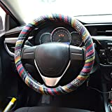 FLY5DUniversal Automotive Steering Wheel Cover Natural Fibers Auto Car...