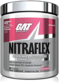 GAT Sport NITRAFLEX, Testosterone Boosting Powder, Increases Blood Flow, Boosts Strength and Energy, Improves Exercise Per...