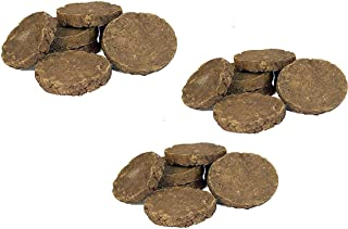 PS Original Desi Cow Dung Cake | for Hawan, Puja & Religious Purpose (75 * 15 mm) (Pack of 10x3=30 Nos of Cake)
