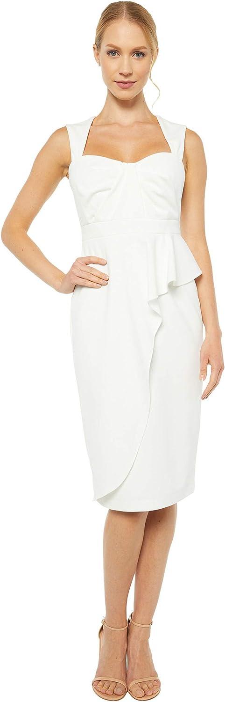 Adrianna Papell Women's Draped Crepe Sheath Dress
