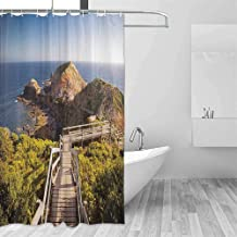 House Decor Odorless Waterproof Shower Curtain Cape Schanck Boardwalk Runs Towards The Sea Rock Formation London Bridge Large Home Decoration W108 x L72 Inch Victora. Australia
