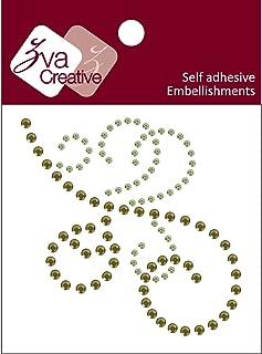 Zva Creative CRX-05CB-107 Crystal Sticker, Lime and Olive Flourish