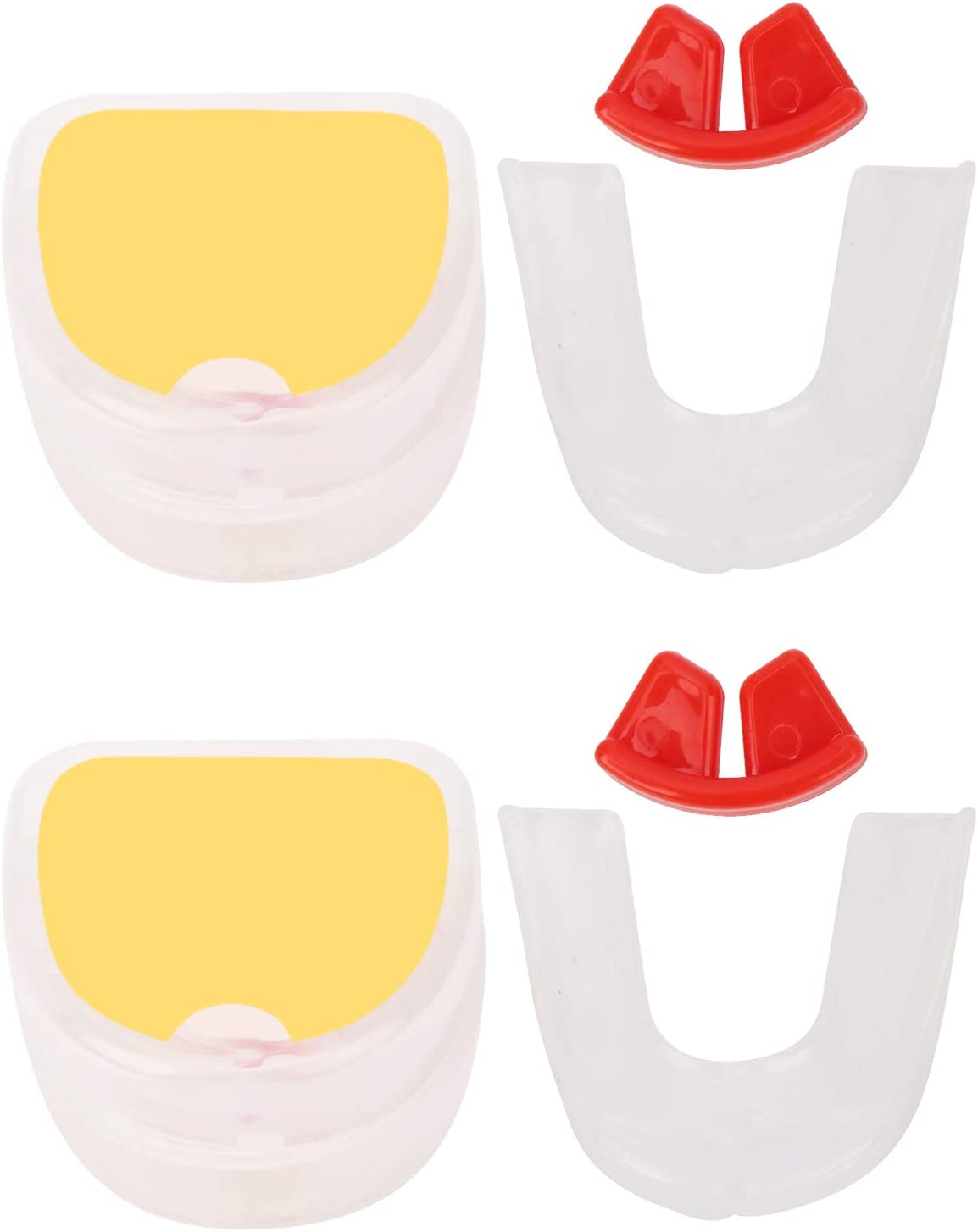 Drfeify 2Set 2021 autumn and winter new Boxing Mouth Guard Transparent Twosided Don't miss the campaign Shield Gum