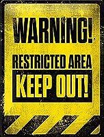 立ち入り禁止区域ティンサイン壁鉄の絵レトロプラークヴィンテージ金属板装飾ポスターおかしいポスター吊り工芸品バーガレージカフェホーム