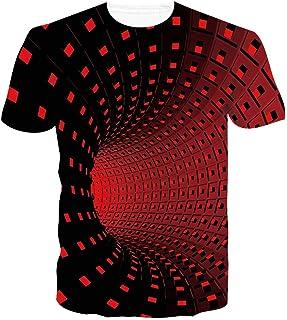 Rave on Friday Unisex 3D Stampato Estate Casuale Manica Corta T Shirt Senza Maniche Girocollo Tees per Uomini Donne S-XXL