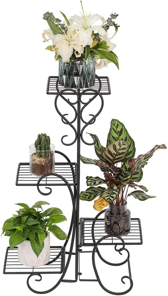 US Stock- 4 Potted Square Flower Stand Limited time cheap SEAL limited product sale Plant Pot Shelves D Metal